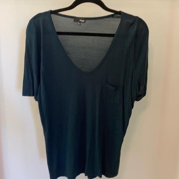 Aritzia Wilfred Free green short sleeve t-shirt
